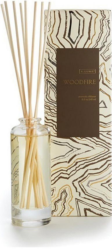 Ilume Woodfire fragrance aromatic reed diffuser