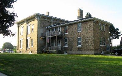 Joshua Pierce House from Pierce Boulevard, Racine, Wisconsin