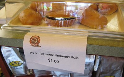Limburger cheese rolls, Boomerang Bakery, Monroe, Wisconsin