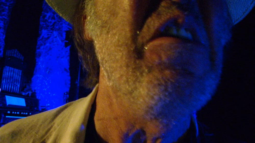Neil Young's whiskers in Neil Young Journeys (2011 movie)