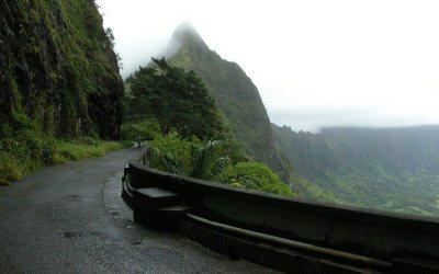 Old Pali Road, Nu'uanu Pali, Oahu, Hawaii