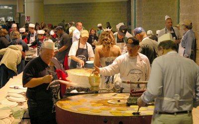 Pancake Day, Racine, Wisconsin: Pancake griddles