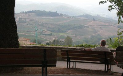 Panzano in Chianti, Italy: View of Tuscany's hills