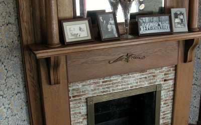 Ronald Reagan boyhood fireplace, loose tile