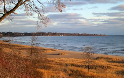Wind Point from North Beach Park, Racine, Wisconsin