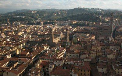Florence, Italy: Duomo view to Bargello, Palazzo Vecchio