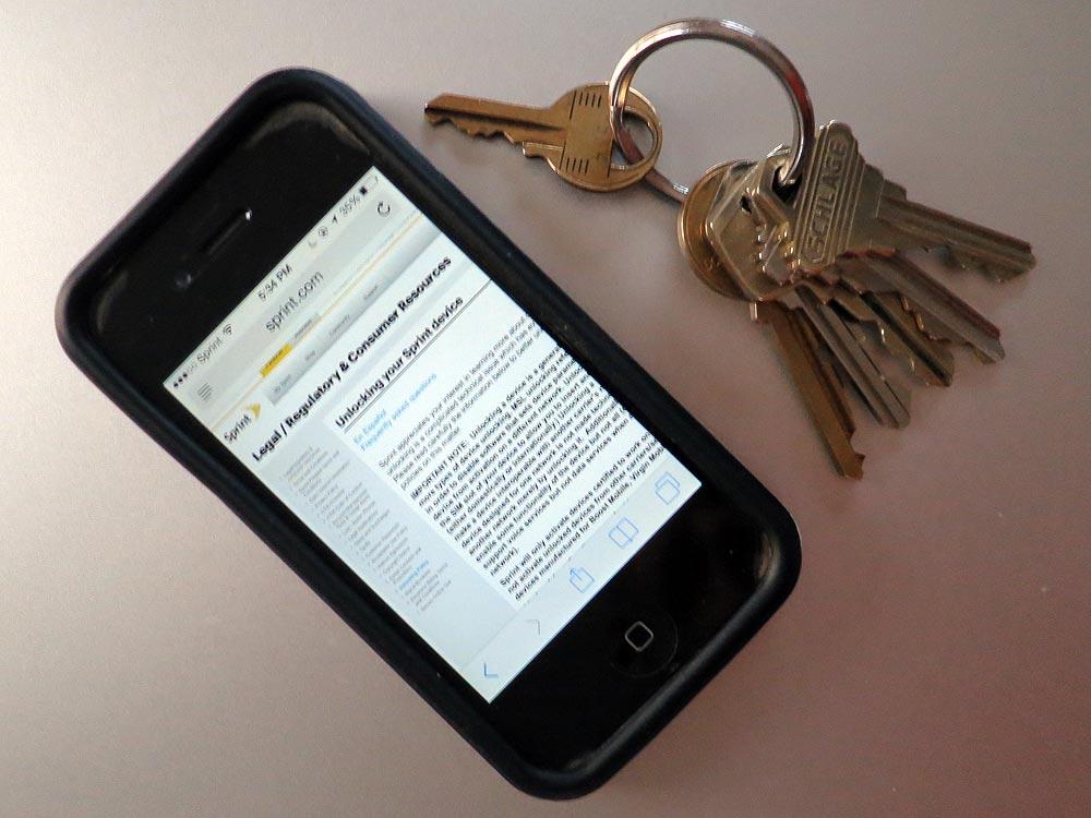 unlocking a Sprint iPhone