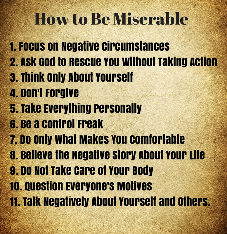 How To Be Miserable And Stay Miserable Mark DeJesus