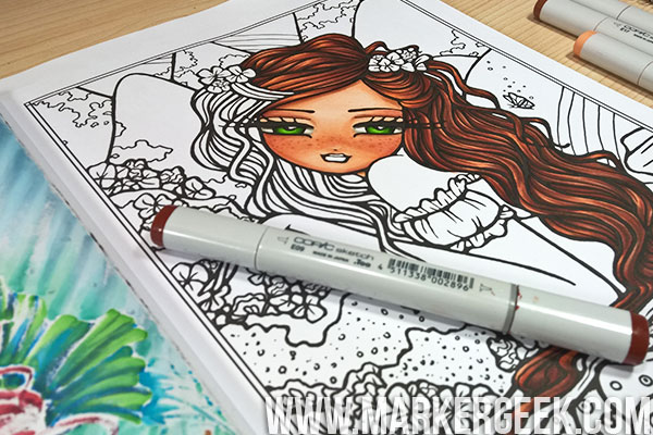- Copic Markers In Colouring Books & A Hannah Lynn Page - Marker Geek