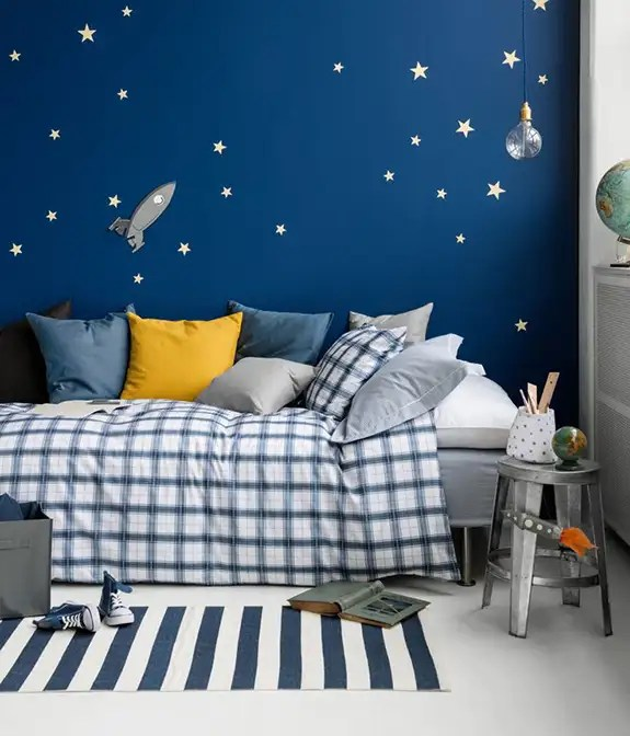 Bold Accent Wall Ideas For Kids Room Marker Girl