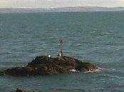 Marker post sea