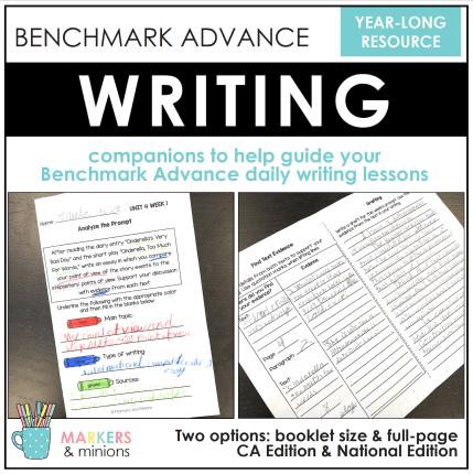 benchmark advance writing
