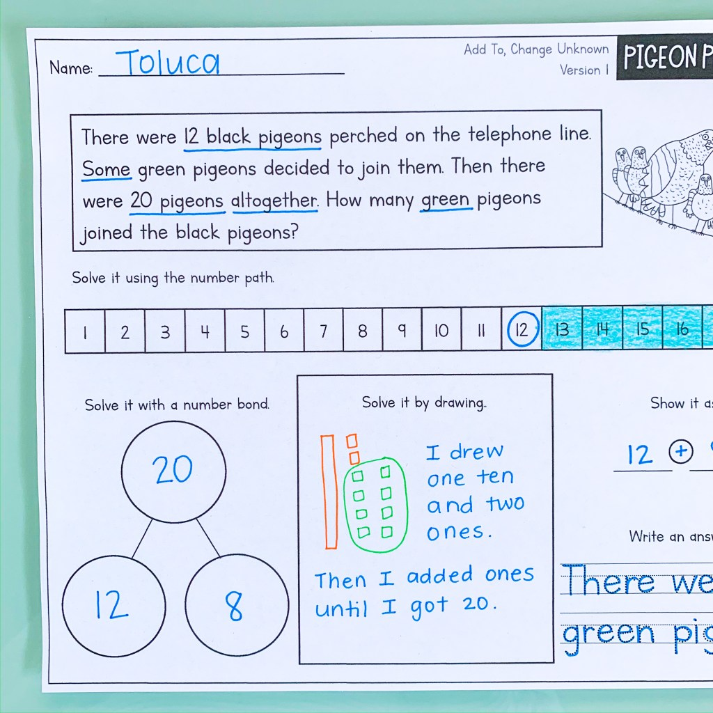 pigeon math addition and subtraction