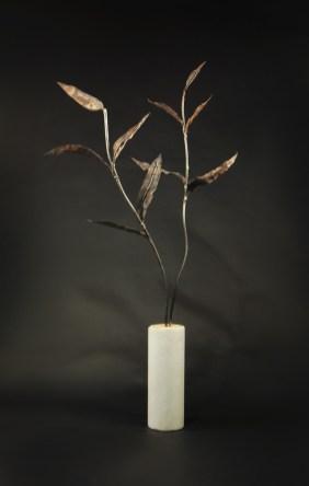 Branching - Marble, Steel, Bronze Mesh Leaves