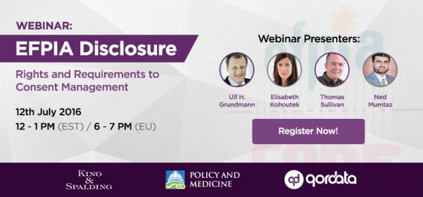 Pharma Compliance Info Webinar today 12/07 19h | EFPIA Disclosure: Rights and requirements for Consent Management EFPIA