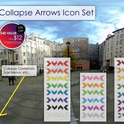 Collapse Arrows Icon Set