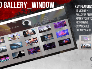 3D Vista YouTube Style Video Gallery Window