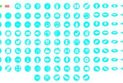MacNimation White on Light Blue Set Only Full