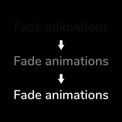 Animated fade in / out transitions for hotspots