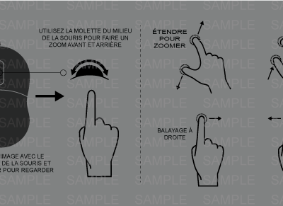 MacNimation - Mouse Tablet Instruction control Black and White - FRENCH + English