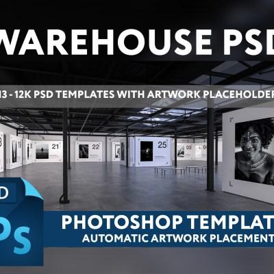 WAREHOUSE PSD - 12K GALLERY PHOTOSHOP TEMPLATE (v1.0)