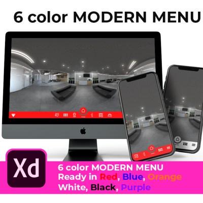 Modern 6 color menu