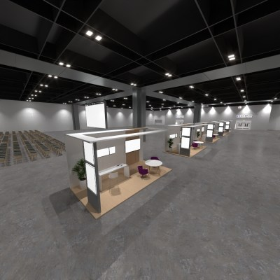 Expo hall, Auditorium and Booths