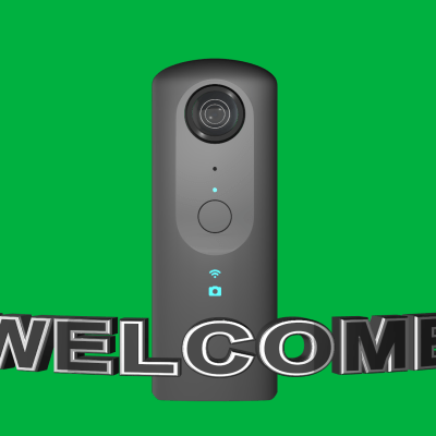 Ricoh Theta V Welcome Message for loading Screen