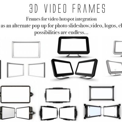 3D Video hotspot frames