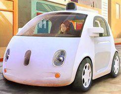 Artist's impression of self-drive car