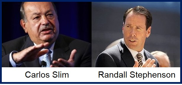 Carlos Slim and Randal Stephenson