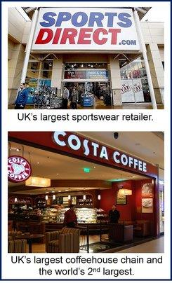 Sports Direct and Costa Coffee