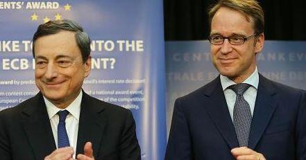 Mario Draghi and Jens Weidmann