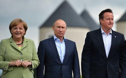 Merkel Putin and Cameron
