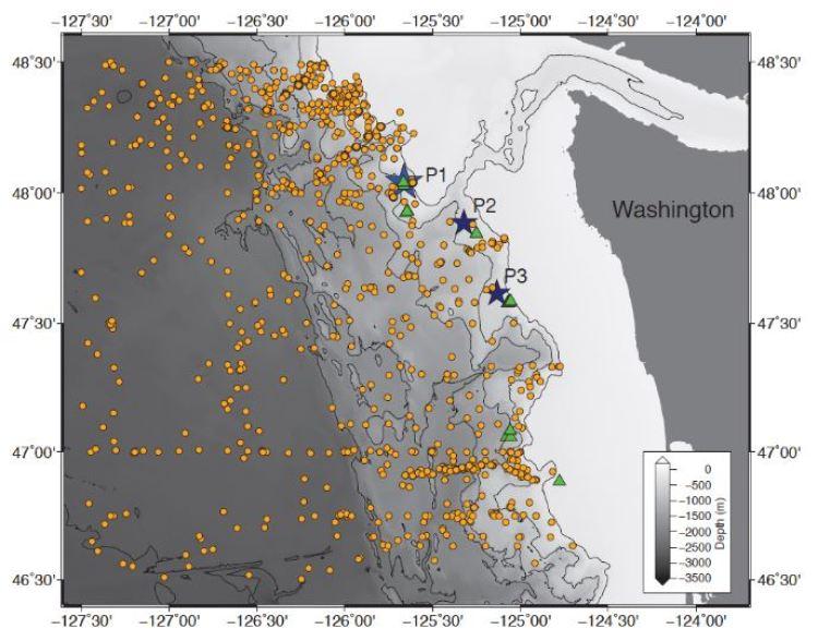 Ocean temperature Washington coast