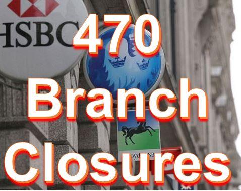 Bank branch closures