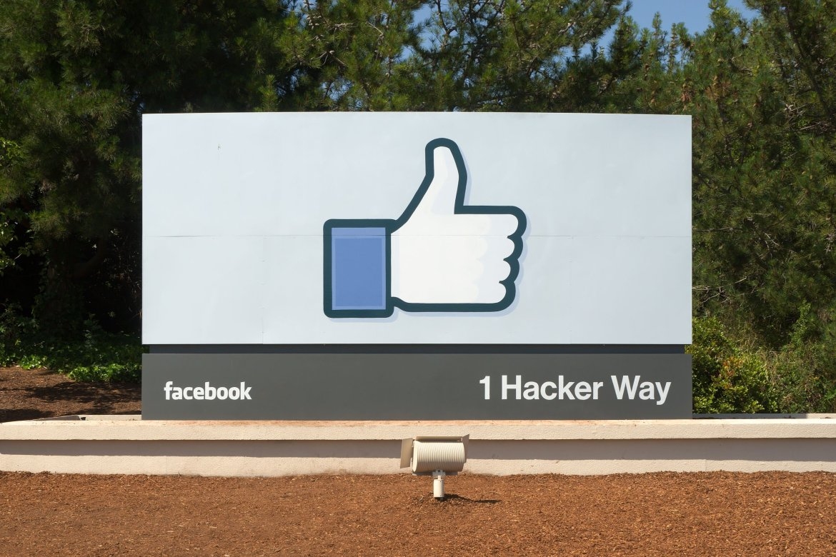 Facebook headquarters entrance sign