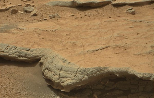 Mars, rock bed at the Gillespie Lake outcrop