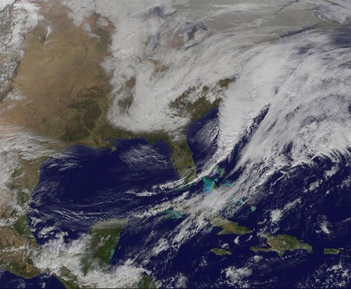 Satellite image noreaster