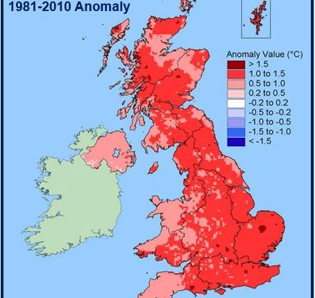 UK warmest year on record
