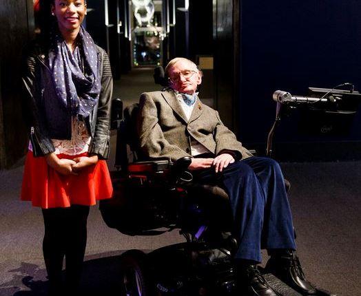 Adaeze Uyanwah and Stephen Hawking
