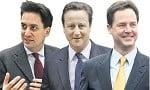 Miliband Cameron Clegg
