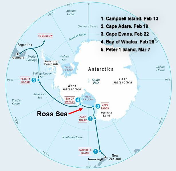 Five swims in Antarctica