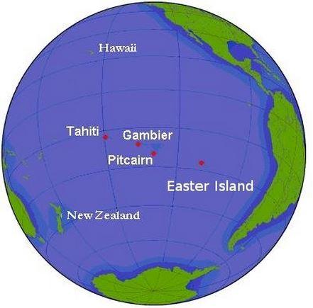 Globe Pitcairn Islands