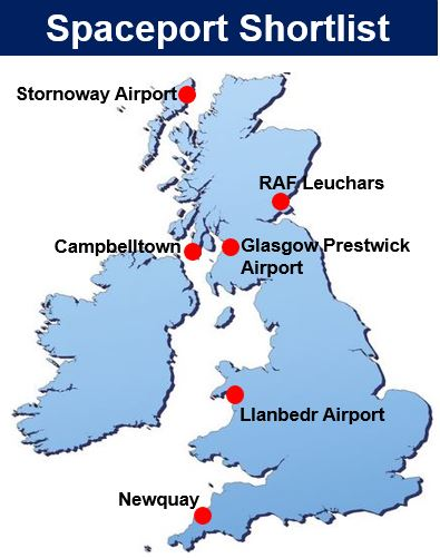 UK Spaceport Shortlist