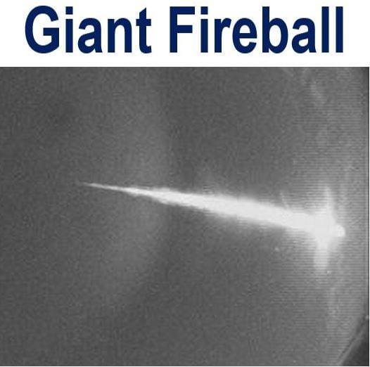 Giant Fireball filmed