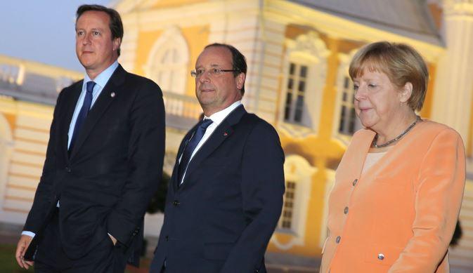 Cameron Hollande and Merkel