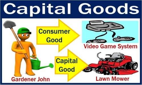 Capital goods for John the gardener - lawn mower