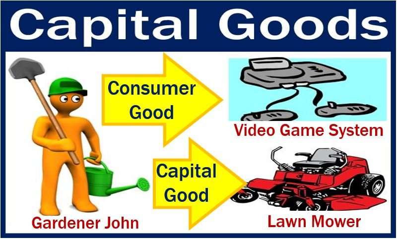 Capital goods for John the gardener - lawn mower