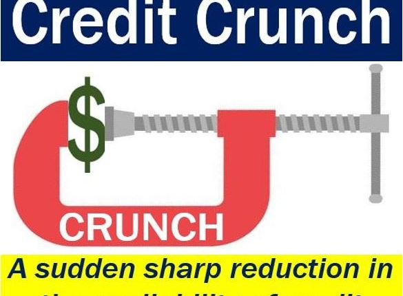 Credit crunch - image explaining what it means